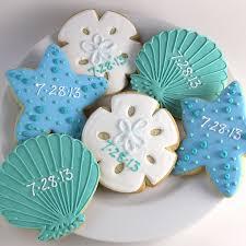 seashell shaped cookies sea shell cookies sea cookies wedding favor cookies