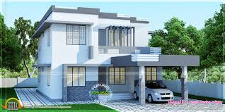 sober colored house rendering kerala home design and floor plans