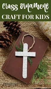 easy cross ornament craft for