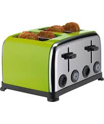 Toasters Online Buy Colourmatch Stainless Steel 4 Slice Toaster Apple Green At