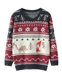 snowflake preppy style deer sweater