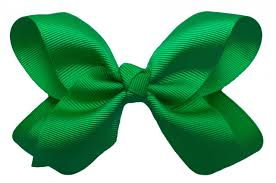 hair bow big emerald green hair bow with alligator clip