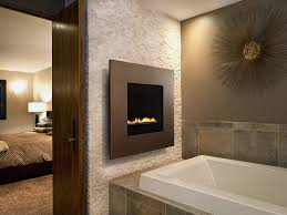gas fireplace contemporary closed hearth wall mounted ion