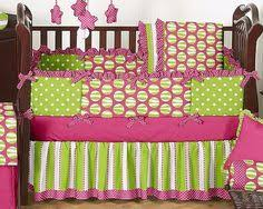Pink And Green Crib Bedding Once Upon A Pond 6 Baby Crib Bedding Set By Cocalo 129 95