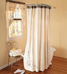 Matching Bathroom Window And Shower Curtains Matching Shower Curtain And Window Treatment