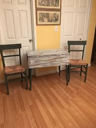 stained table top painted legs solid pine drop leaf table with a pickled top stained and painted