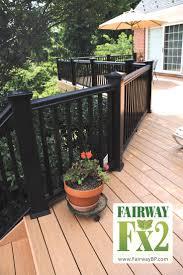 black deck railing radnor decoration