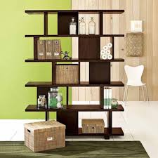 elegant brown creative book shelf ideas that can be applied on the