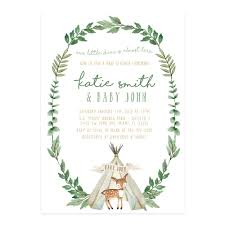 woodland baby shower invitations custom invitations san diego ca kirra reyna designs boy