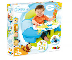 smoby siege gonflable cotoons cosy seat asst 1er eveil cotoons premier age