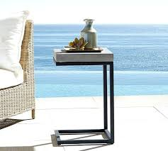 lowes patio side table sloan c table pottery barn outdoor accent tables lowes outdoor patio
