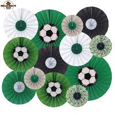 football party decorations milkmico 2018 world cup party decoration set hanging paper fan