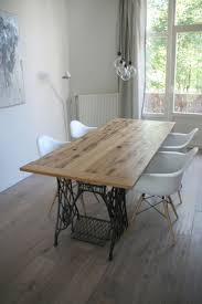 awesome upcycled dining room table and reclaimed door handmade