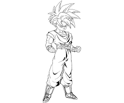 gohan coloring pages funycoloring