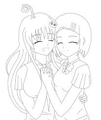 10 images of anime friends coloring pages anime girls