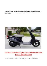 yamaha sh50 razz 50 scooter workshop service manual 1987 2001 by