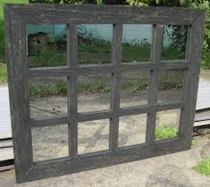 Window Mirror Decor by Reclaimed Barn Wood 12 Pane Window Mirror Rustic Wall Hanging