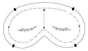 eye mask template sleep mask magazine crafts institute