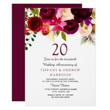 zum 20 hochzeitstag 20 hochzeitstag einladungen zazzle de