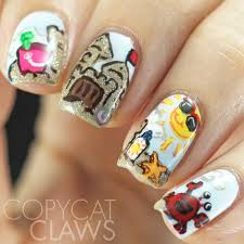 copycat claws summer nail art twinsies with lady maid nails