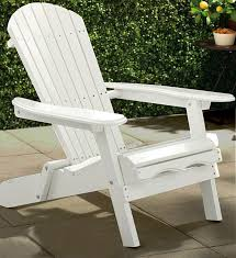 Painted Wooden Patio Furniture Amazon Com Merry Garden White Paint Simple Adirondack Chair