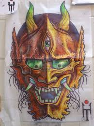 hannya japanese mask tattoo design in 2017 real photo pictures