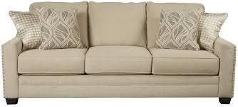 Linen Sleeper Sofa Linen Sleeper Sofa Gray Milari Wood Slipcovered Features
