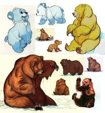 brother bear concept art animation characters sheets