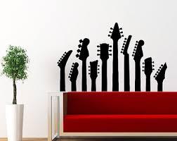 jazz home decor guitar wall decal electro jazz musical instrument decals vinyl