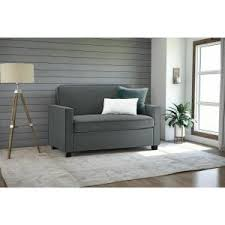 Gray Sleeper Sofa Dhp Casey Queen Size Grey Velvet Sleeper Sofa 2155457 The Home Depot