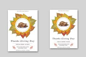 thanksgiving party flyer thanksgiving invitation flyer templates on behance