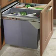 Kitchen Recycling Bins For Cabinets 90 Ltr Recycle Bin Pull Out Kitchen Integrated 600mm Base Unit