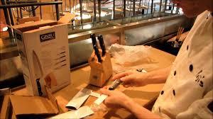 Ginsu Kitchen Knives Ginsu Knife Set Unboxing U0026 Demonstration At Yuji U0027s Tapas Sushi