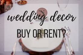 should you rent or buy your wedding decor apple brides