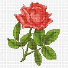 single pink free cross stitch pattern from alita designs