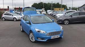 used ford focus tdci used ford focus 1 5 tdci 120 titanium x 5dr iceberg blue 2016