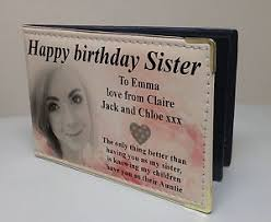 Leather Memory Book Personalised Faux Leather Photo Album Memory Book Happy Birthday