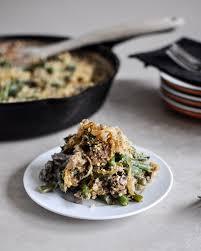 lightened up fresh green bean casserole