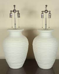 White Ceramic Table Lamps Large Pair Of Urn Shaped Ceramic Table Lamps With A Matte White