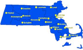 map of northton ma massachusetts and bat removal