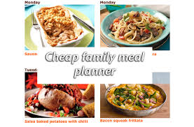 cheap weekly meal planner goodtoknow