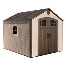 decor grey and ivory plastic waterproof backyard sheds costco