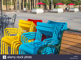 Teal Colored Chairs by Chairs Plaza Colorful Chairs Balboa Park San Diego California