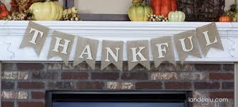 easy thanksgiving banner bunting landeelu