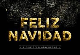merry christmas greeting card in spanish language feliz navidad