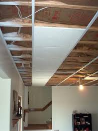 Ceiling Tile Installation Pleasing How To Install Basement Ceiling Tiles Drop Tile