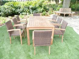 8 Seater Patio Table And Chairs Teak Garden Furniture Lovable Cannes 8 Seater Teak Rattan