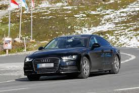 first audi ever made spyshots 2018 audi a7 chassis testing mule seen for the first