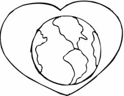 earth love printable coloring pages kids coloring point