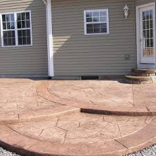 Backyard Cement Ideas Decor U0026 Tips Stamping Concrete For Concrete Patio Ideas And